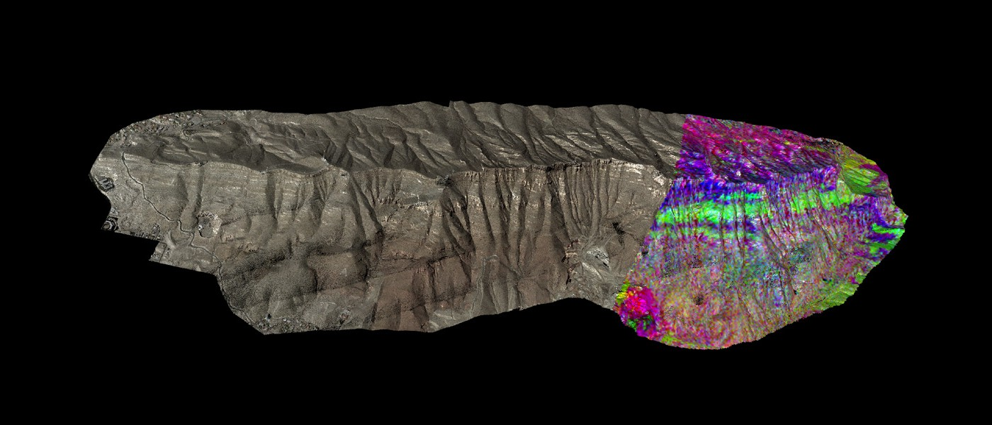 LiDAR of Franklin Mountains