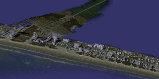 South Padre Island point cloud with 20 million points, each point with RGB color and IJK normals.